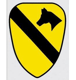 "MidMil Army 1st Cavalry Emblem Decal 4"" wide x 5.5"" high"
