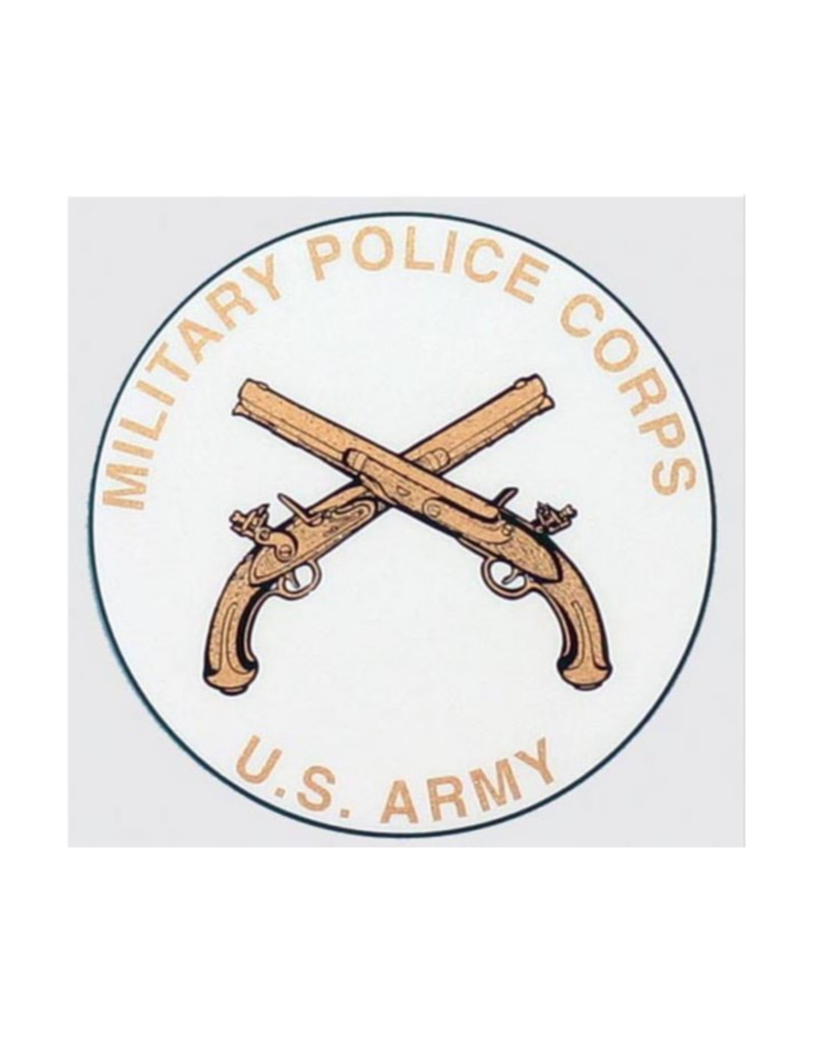 """MidMil Army Military Police MP Emblem Decal 4"""" Diameter"""