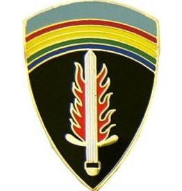 "MidMil SHAEF Emblem Pin 1"""