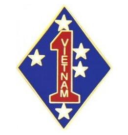 "MidMil 1st Marine Division Vietnam Emblem Pin 1"""
