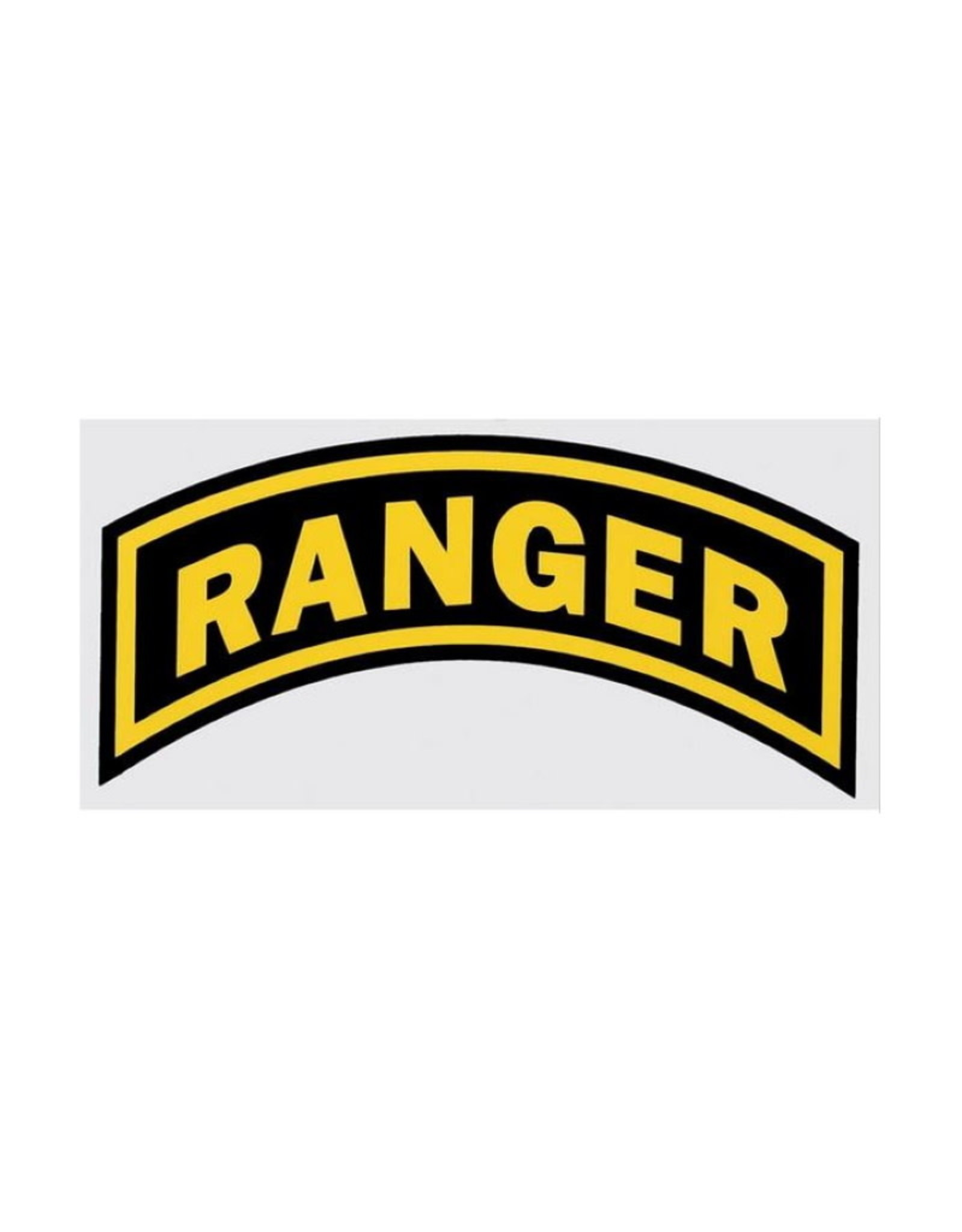"""MidMil Army Ranger Tab Decal 6"""" wide x 3"""" high"""