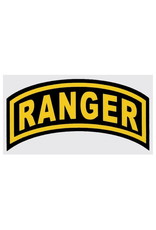 """MidMil Army Ranger Tab Decal 4"""" wide x 2"""" high"""