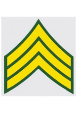"MidMil Army Sergeant E-5 Rank Decal 2"" wide x 2.3"" high"