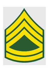 """MidMil Army Sergeant First Class (E-7) Rank Decal 2"""" wide x 3"""" high"""