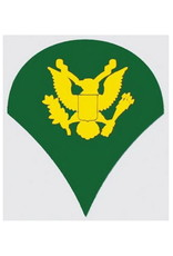 """MidMil  Army Spec 4 (E-4) Rank Decal 2"""" wide x 2.3"""" high"""