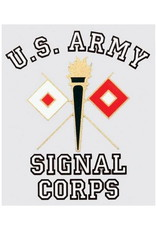 """MidMil Army Signal Corps Decal 3.5"""" wide x 4"""" high"""