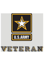 """MidMil Army Veteran Decal with Army Star 3.5"""" wide x 3.2"""" high"""