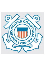 "MidMil Coast Guard Seal Decal 4"" wide x 3.7"" high"