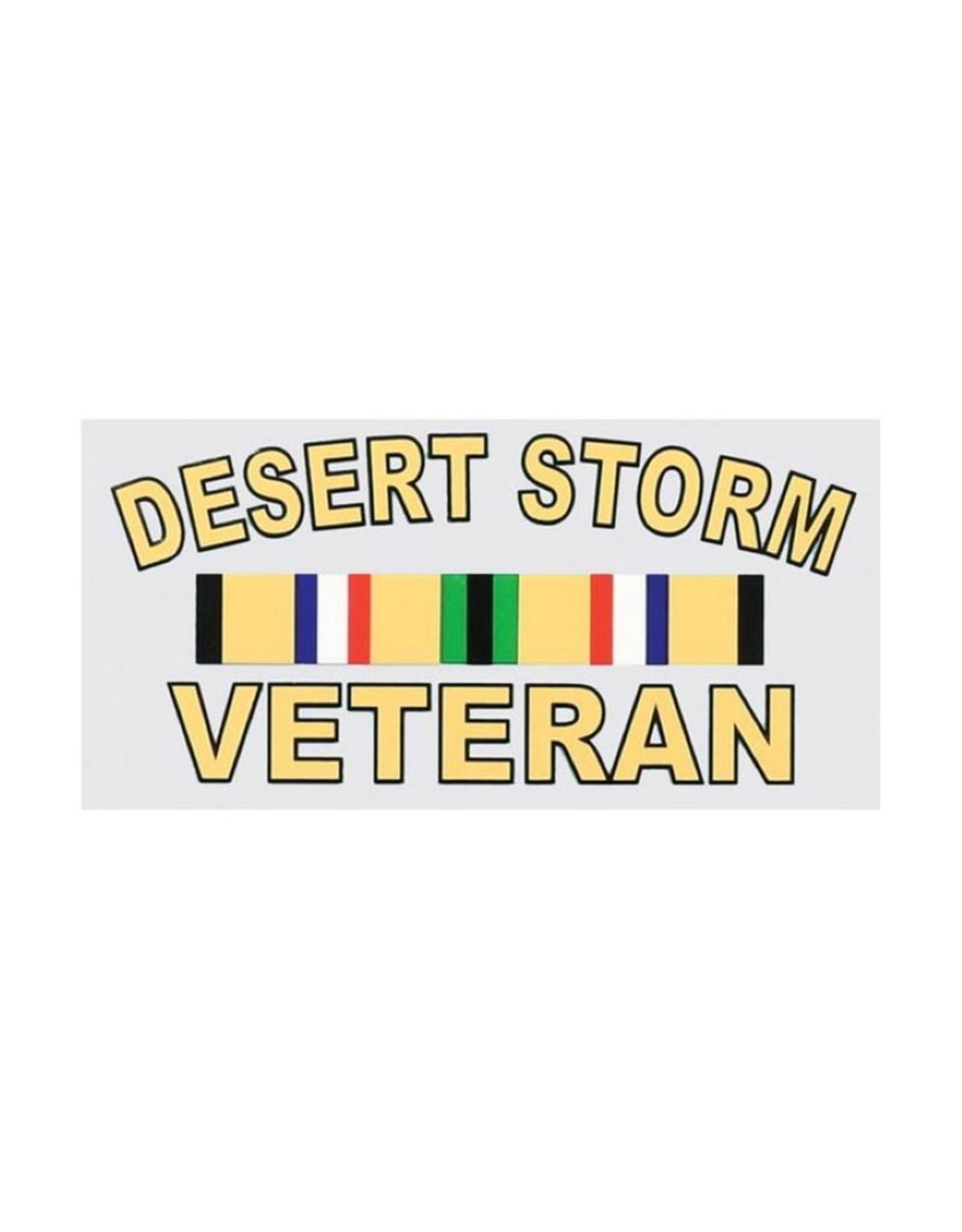 """MidMil Desert Storm Veteran Decal  5"""" wide x 2.5"""" high"""