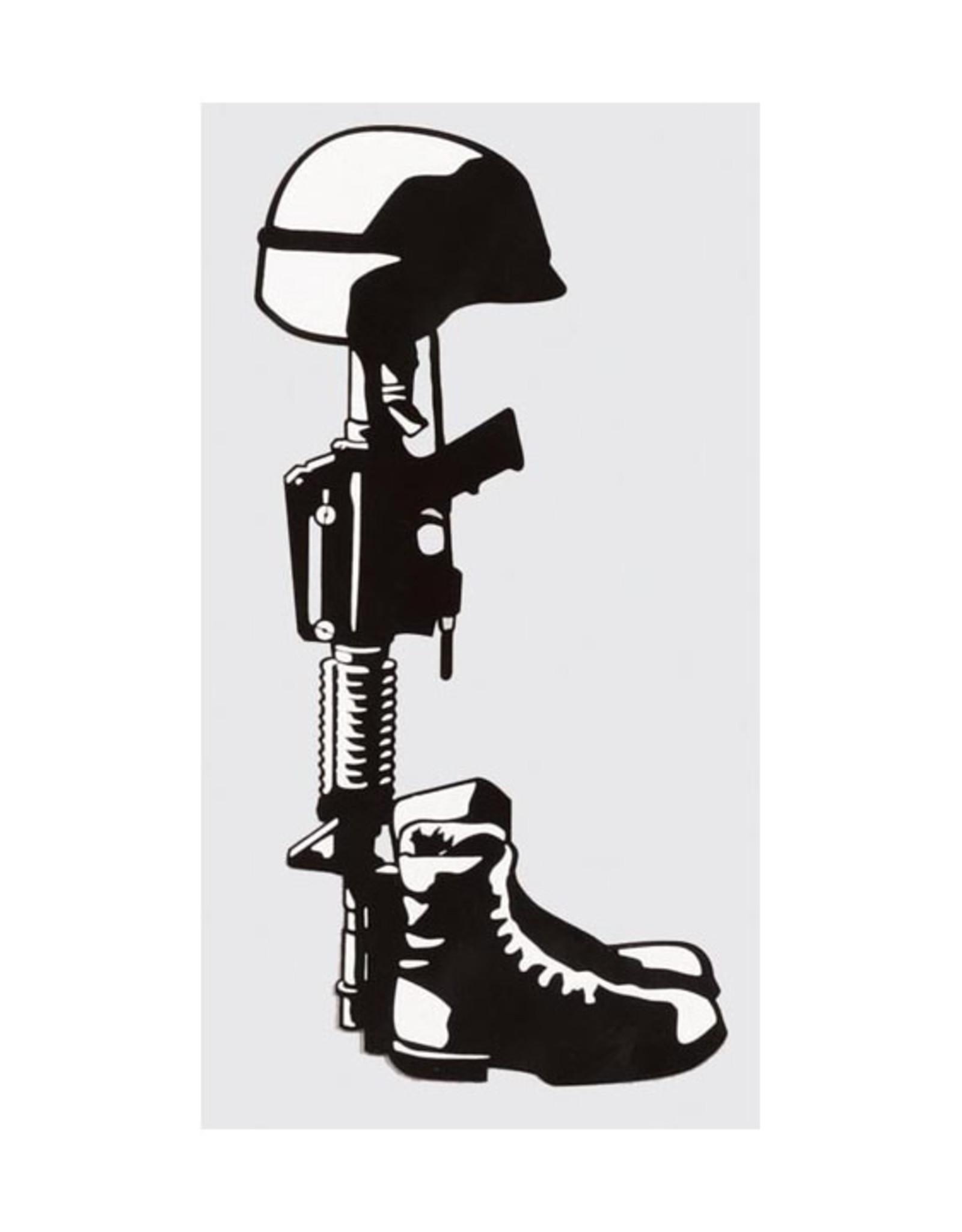 "MidMil Fallen Soldier Memorial Decal 2.8"" wide x 5.2"" high"
