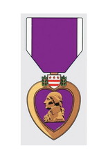"MidMil Purple Heart Medal Decal 2.5"" wide x 5.5"" high"