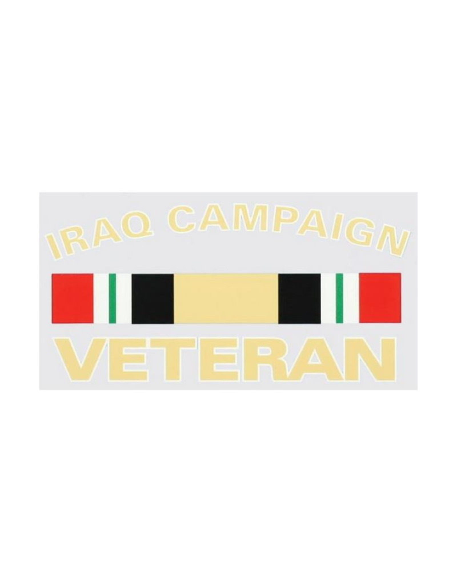 """MidMil Iraq Campaign Veteran Decal with Ribbon 5.4"""" wide x 2.6"""" high"""