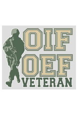"""MidMil OIF/OEF Veteran Decal 4.5"""" wide x 3.8"""" high"""