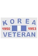 "MidMil Korea Veteran 1950 1953 Decal 4.5"" wide x 2.5"" high"