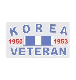 "MidMil Korea Veteran 1950 1953 Decal 4.5"" wide x 2.5"" high"