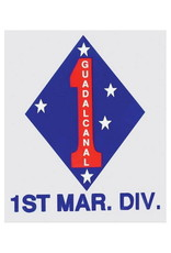 """MidMil 1st Marine Division Emblem Decal 3.7"""" wide x 4.5"""" high"""