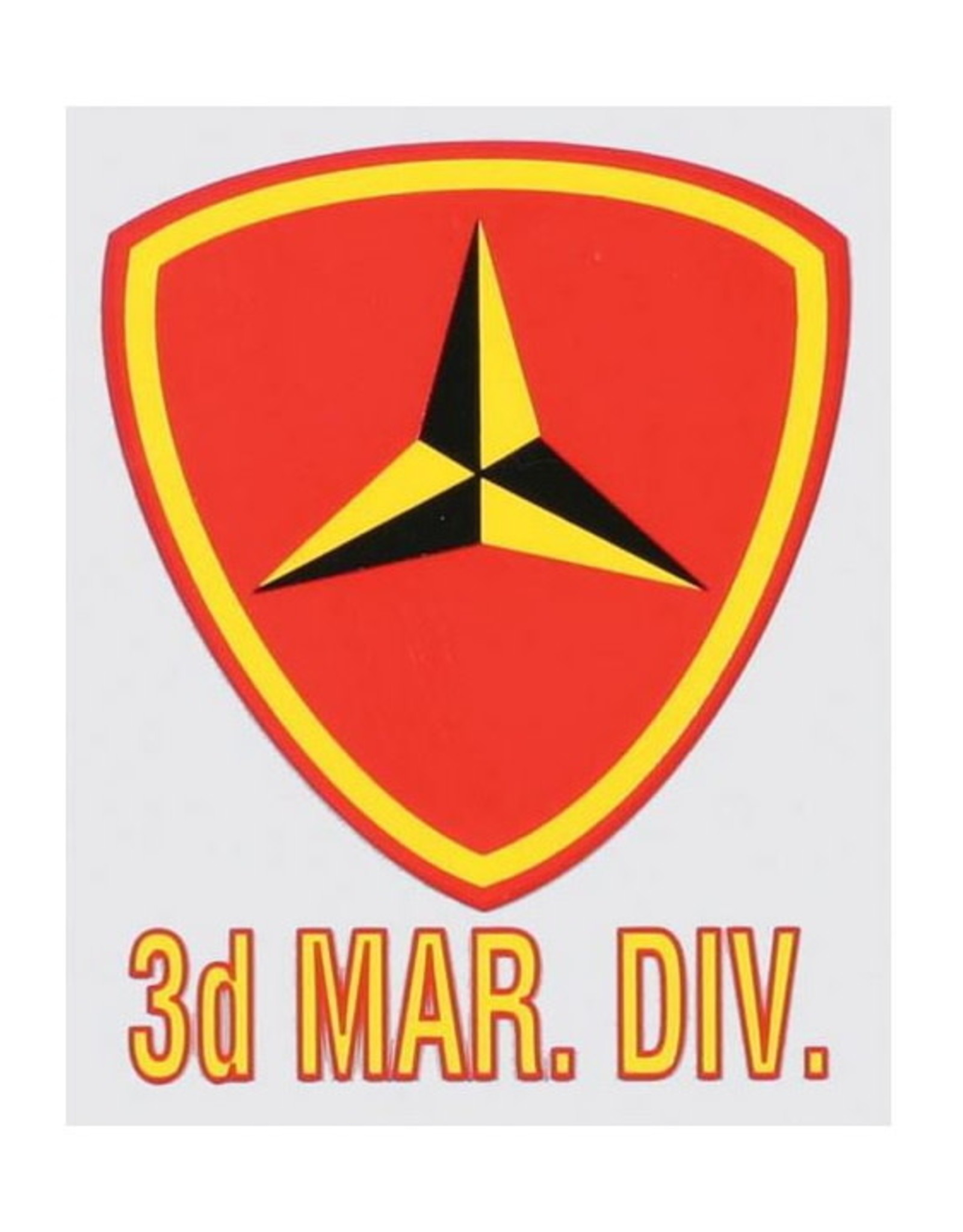 """MidMil 3rd Marine Division Emblem Decal 3"""" wide x 4"""" high"""