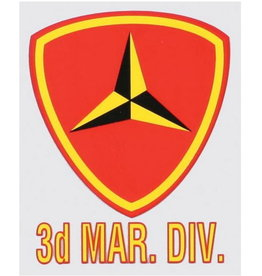 "MidMil 3rd Marine Division Emblem Decal 3"" wide x 4"" high"
