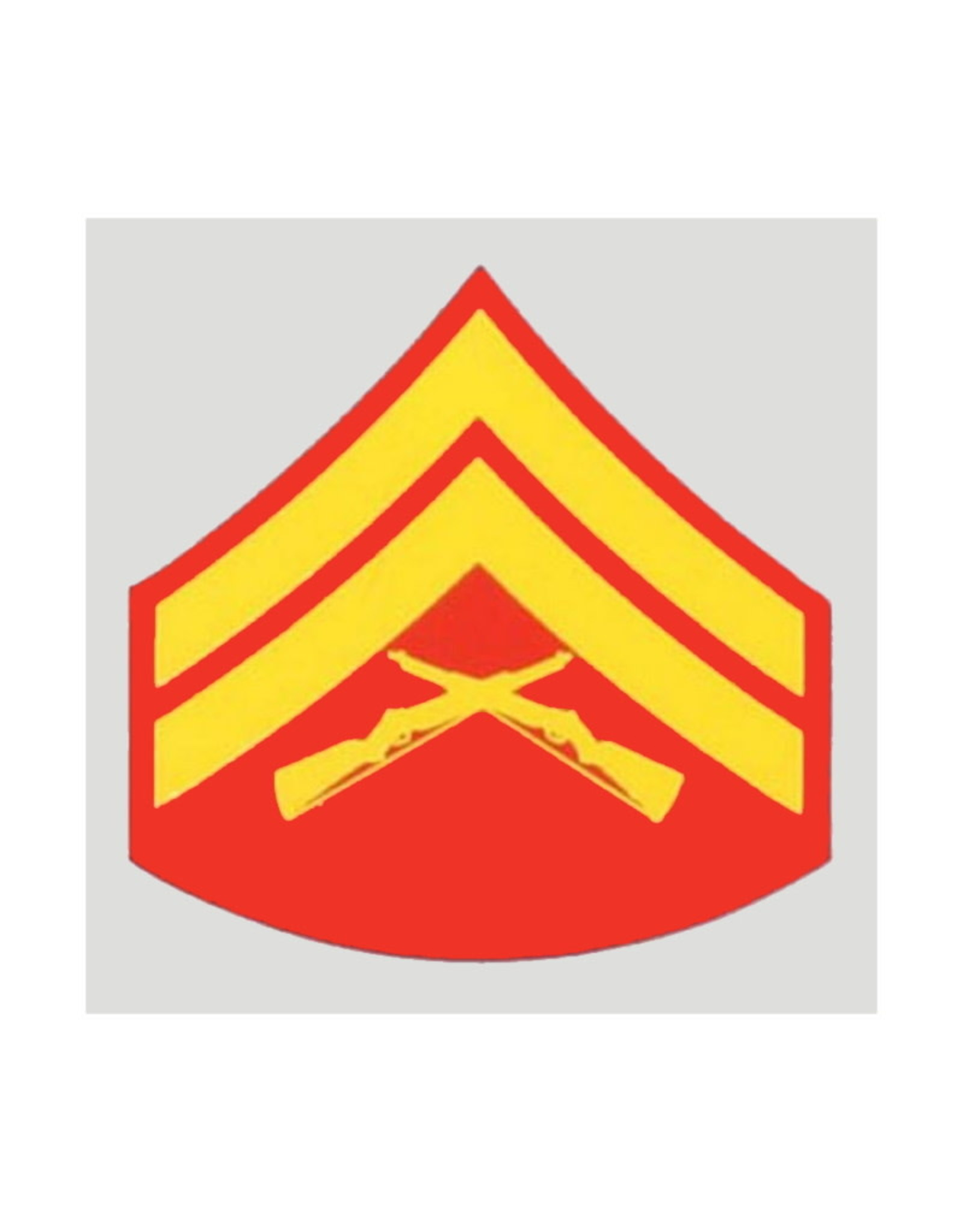 """MidMil Marine Corporal (E-4) Rank Insignia Decal 2"""" wide x 2"""" high"""