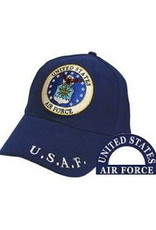 MidMil Air Force Hat with Seal Dark Blue