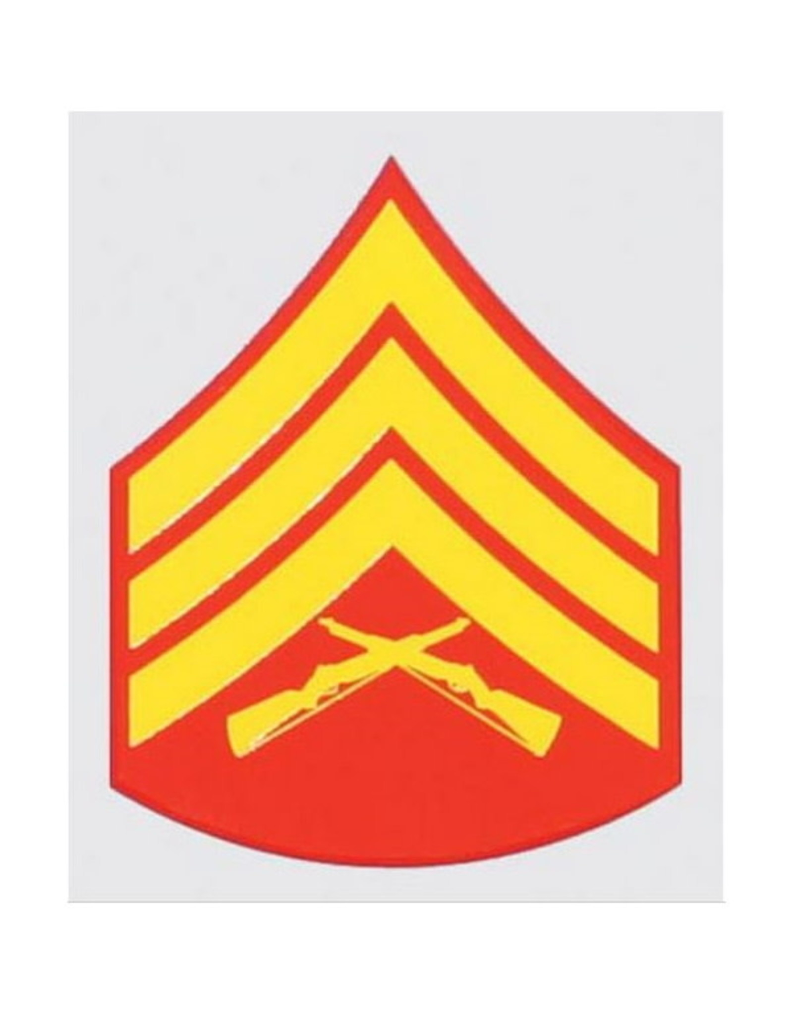 """MidMil Marines Sergeant (E-5) Rank Insignia Decal 2"""" wide x 2.5"""" high"""
