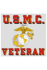 """MidMil U.S.M.C. Veteran Decal with  Globe and Anchor 3.5"""" wide x 3.2"""" high"""