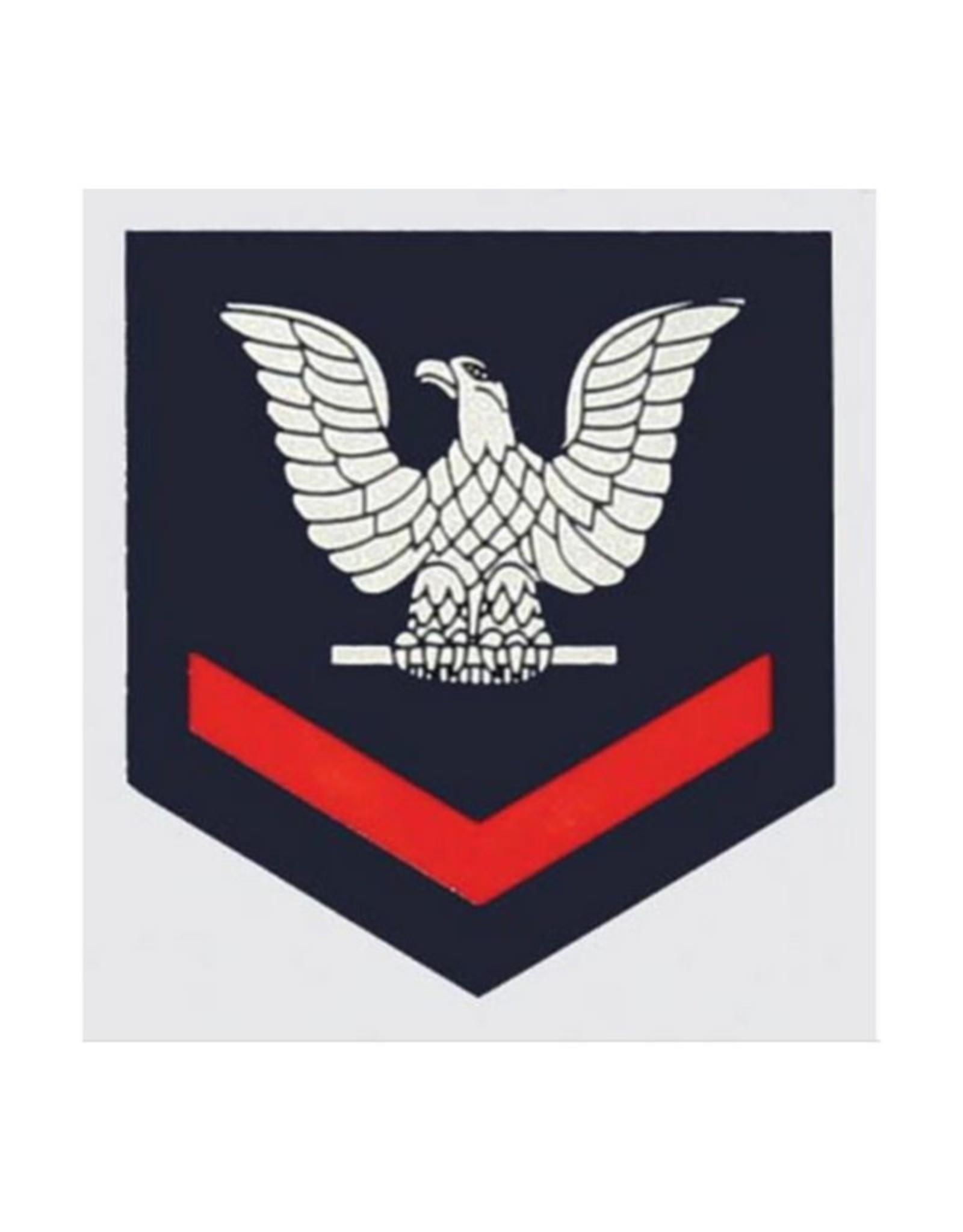 """MidMil Navy 3rd Class Petty Officer Rank Emblem Decal 2"""" wide x 2.1"""" high"""