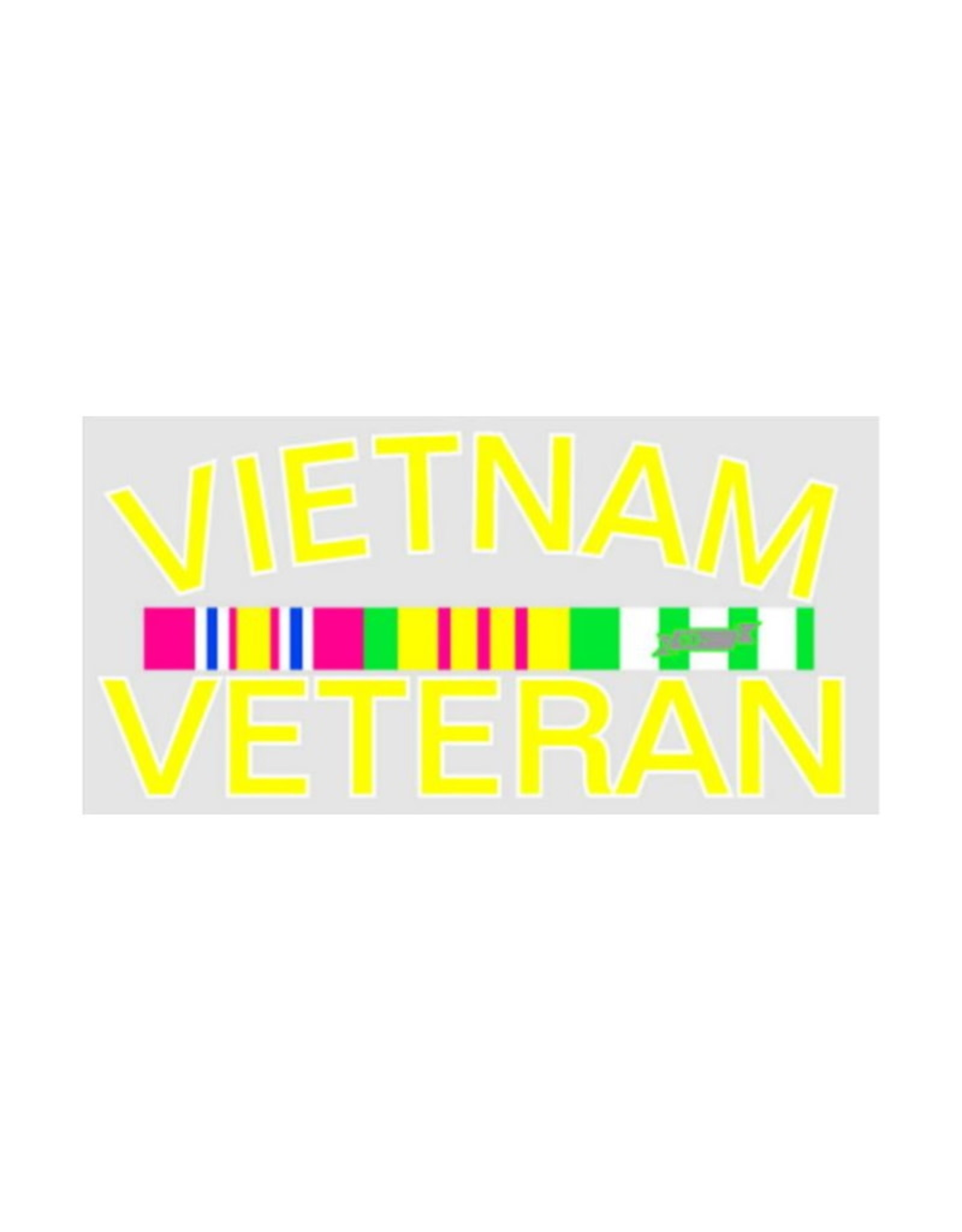 "MidMil Vietnam Veteran Decal with Ribbons 5"" wide x 2.5"" high"