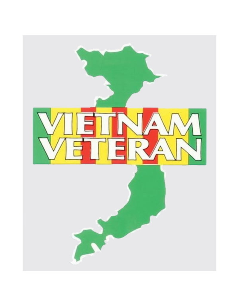 """MidMil Vietnam Veteran Decal with Country 3.7"""" wide  x 5"""" high"""