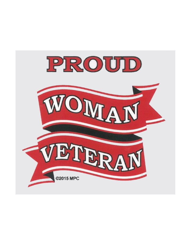 "MidMil Proud Woman Veteran Decal 3.2"" wide x 4.2"" high"