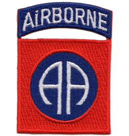"MidMil Embroidered Army 82nd Airborne Patch with Emblem 2"" wide x 2.8"" high."