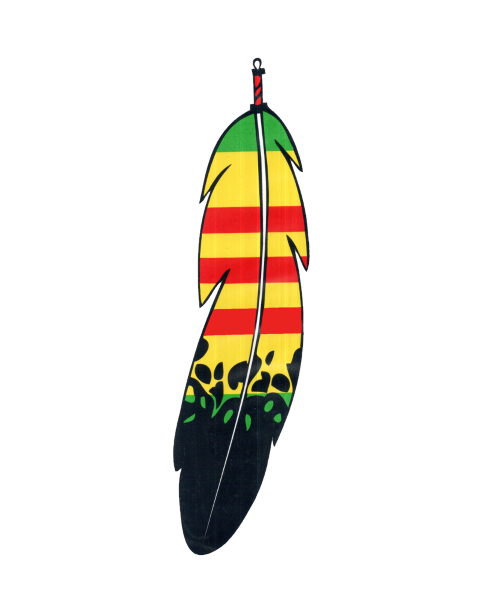 """MidMil Native Feather of Vietnam Service Ribbon Decal 1.7"""" wide x 6.2"""" high"""