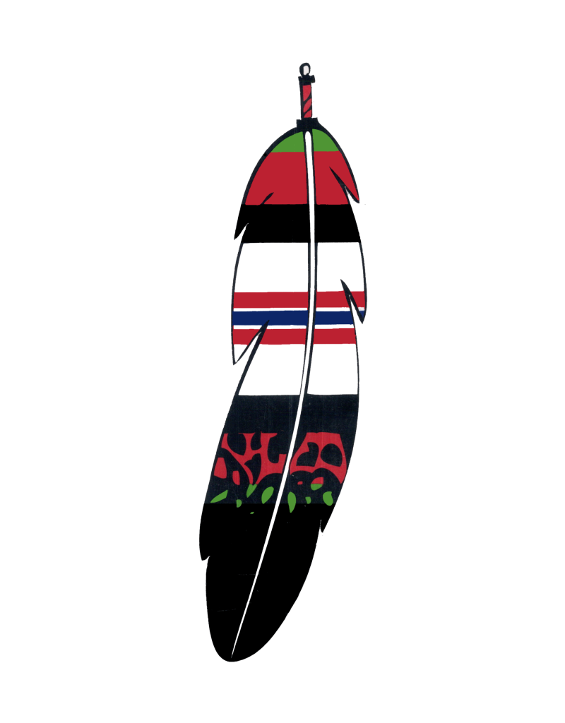 """MidMil Native Feather Afghanistan Campaign Ribbon Decal 1.7"""" wide x 6.2"""" high"""