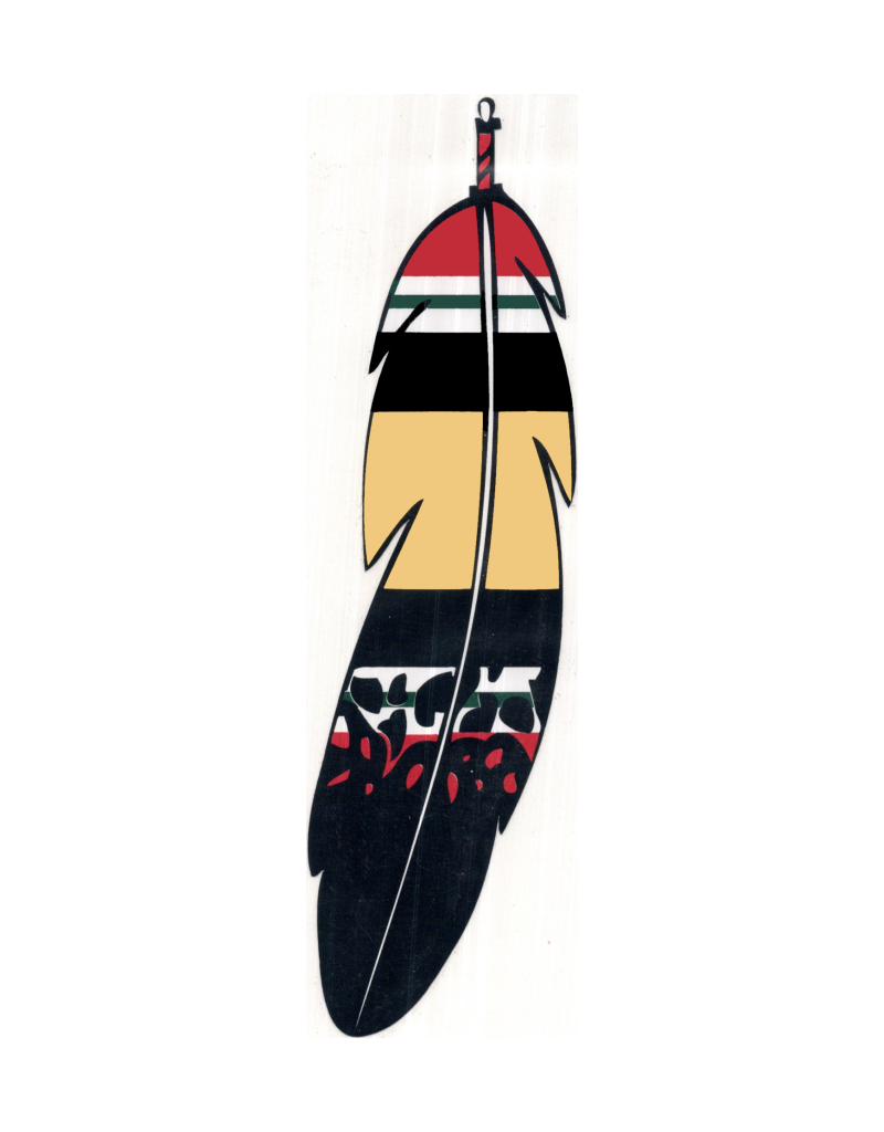 """MidMil Native Feather Iraq Campaign Ribbon Decal 1.7"""" wide x 6.2"""" high"""