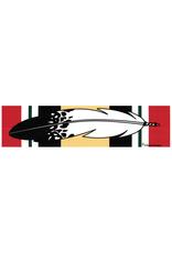 "MidMil Native Feather over Iraq Campaign Ribbon Bumper Sticker 9.2"" wide x 2.3""high"