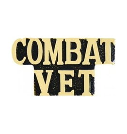 MidMil Combat Vet Text Pin 1 1/8""