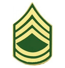 "MidMil Army Sergeant 1sr Class (E-7) Pin 1 1/8"""