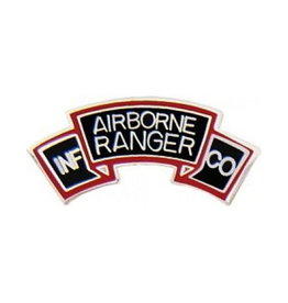 MidMil Army Airborne Ranger INF - CO Tab Pin 1""