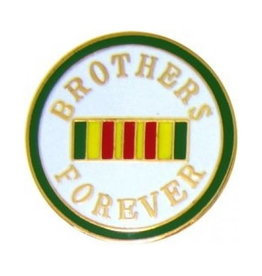 """MidMil Brothers Forever Pin with Vietnam Service Ribbon 7/8"""""""