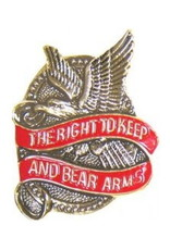 """MidMil The Right to Keep and Bear Arms Pin 1 1/4"""""""