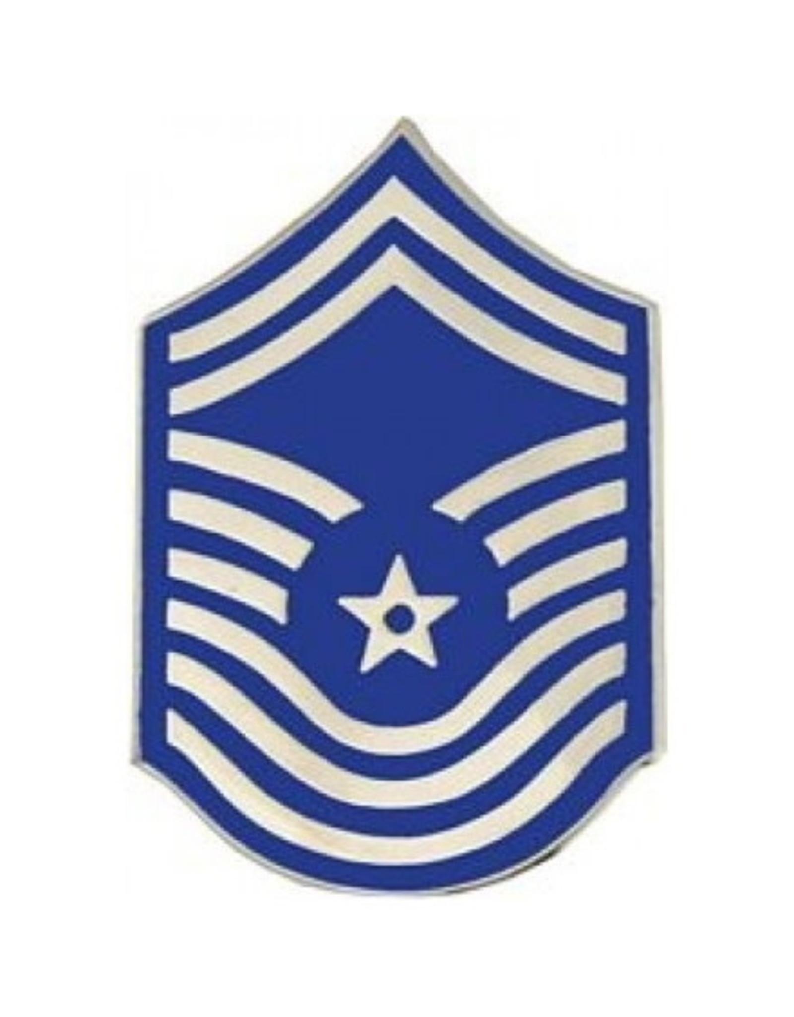 "MidMil Air Force CMSgt (E-9) Rank Pin 1 5/8"""