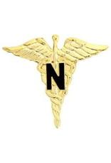 "MidMil Nurse Caduceus Pin 1"""