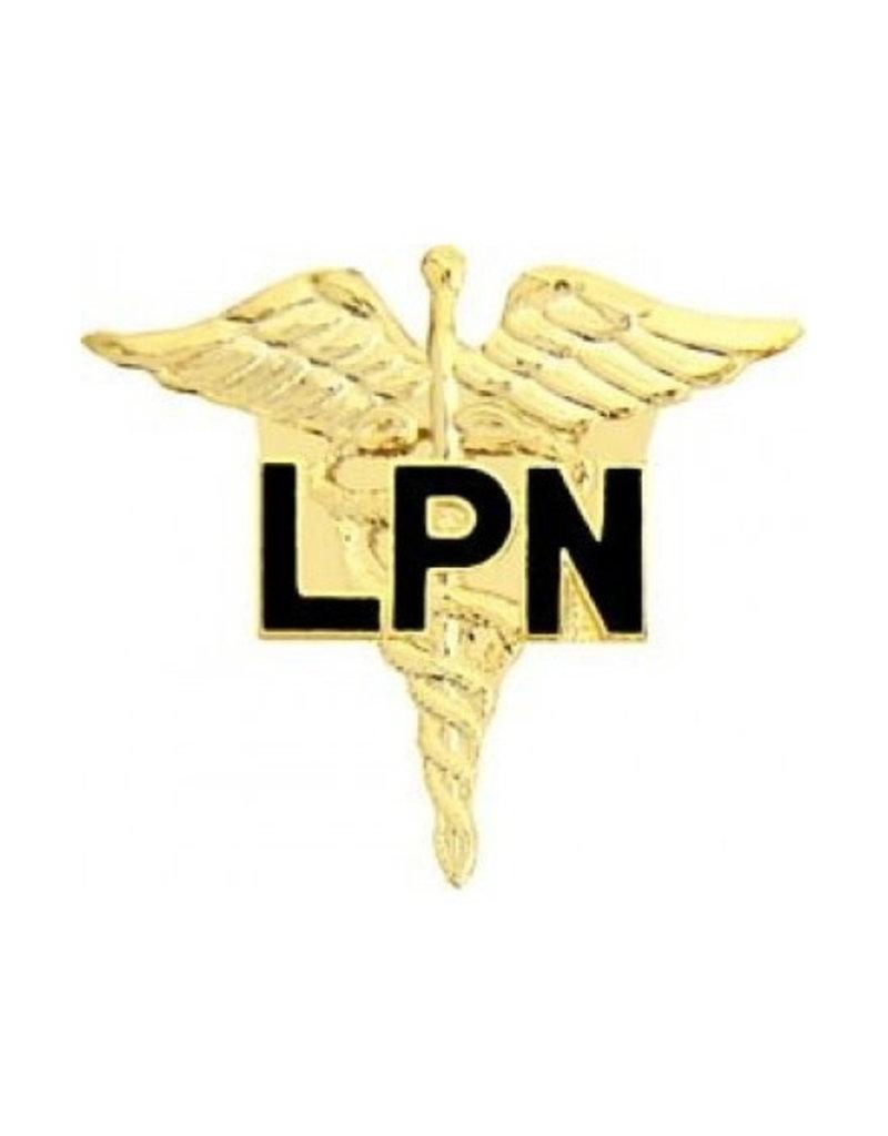 "MidMil Licensed Practical Nurse (LPN) Caduceus Pin 1"""