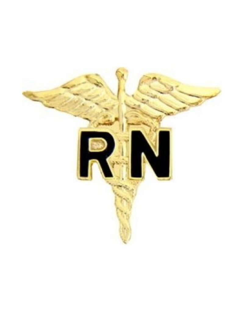 MidMil Registered Nurse Caduceus Gold Pin 1""