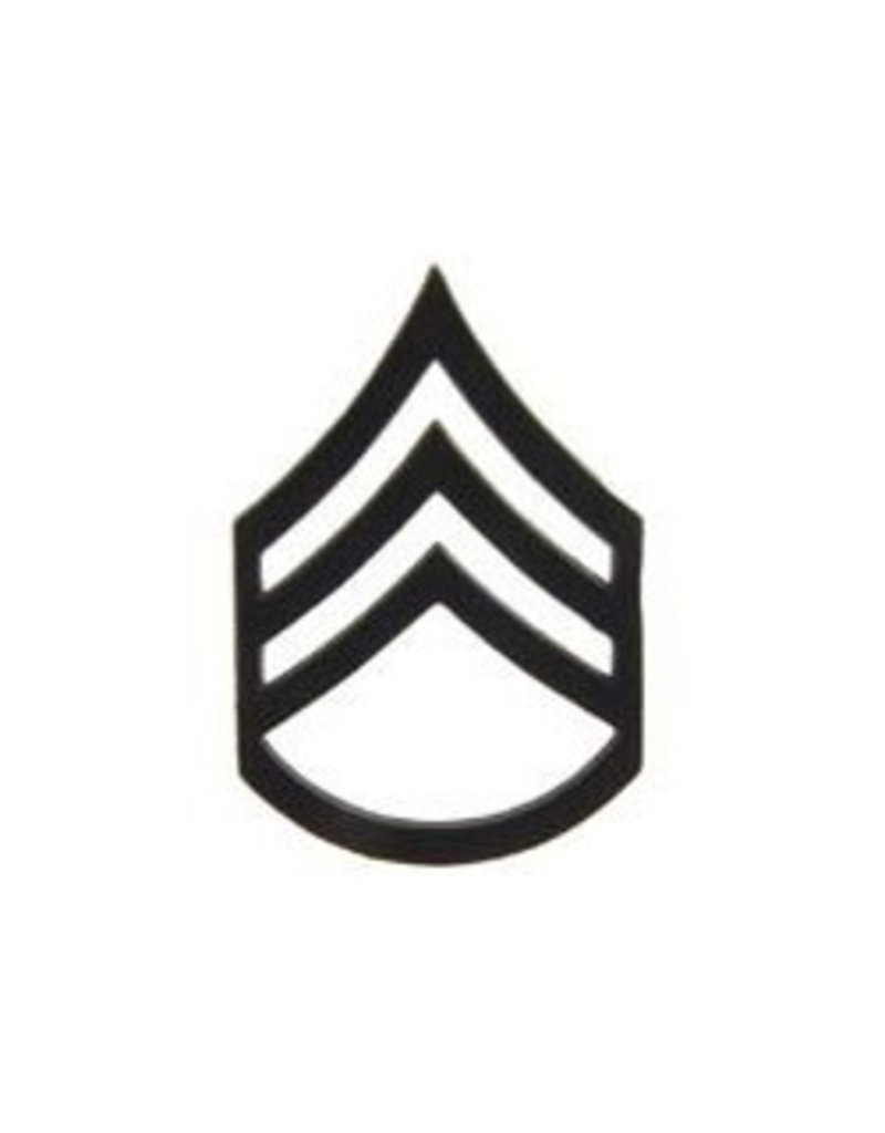 """MidMil Army Staff Sergeant (E-6) Subdued Rank Pin 1-1/4"""""""