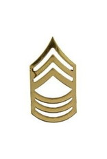 """MidMil Army Master Sergeant (E-8) Gold Rank Pin 1"""""""