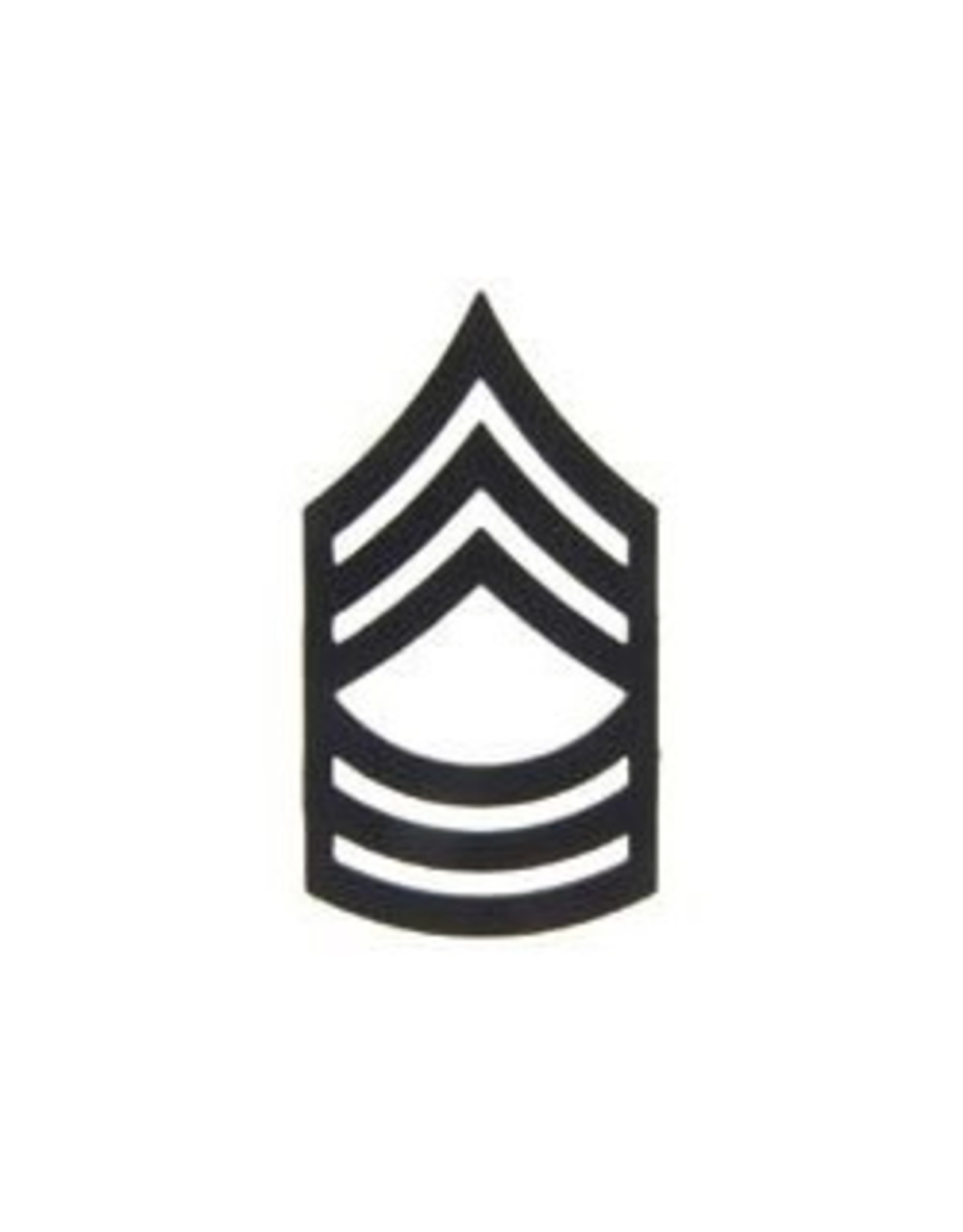 """MidMil Army Master Sergeant (E-8) Subdued Rank Pin 1"""""""