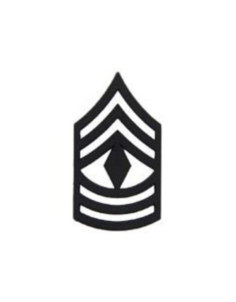 """MidMil Army First Sergeant (E-8) Subdued Rank Pin 1"""""""