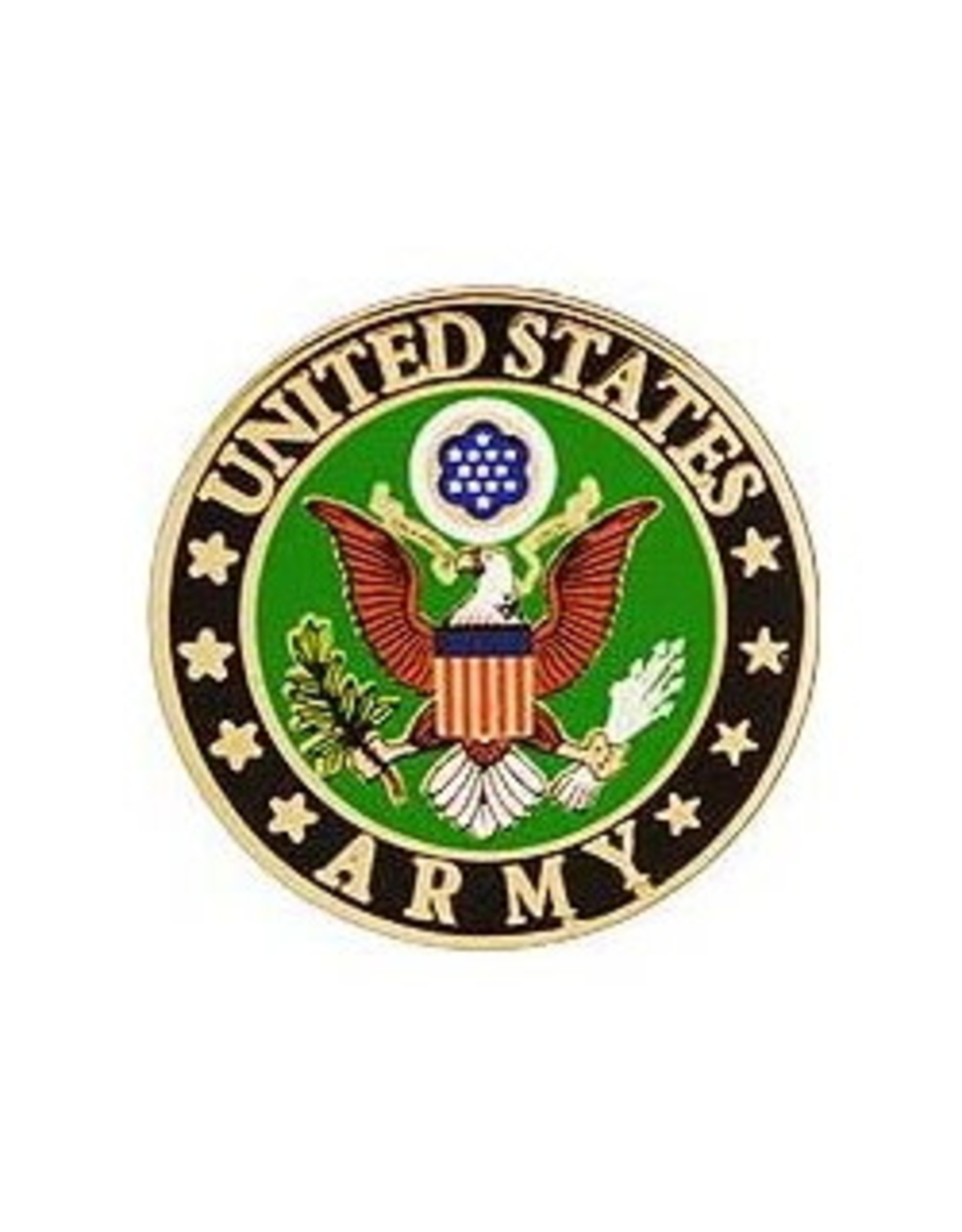 "MidMil Army Seal Pin 1/2"""