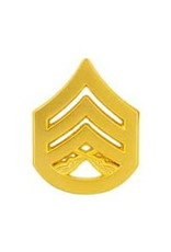"MidMil Marine Corps Staff Sergeant (E-6) Gold Rank Pin 1-1/8"""
